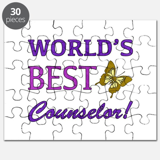World's Best Counselor (Butterfly) Puzzle