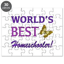 World's Best Homeschooler (Butterfly) Puzzle