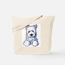 Westie Pocket PUPPY Tote Bag