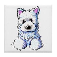 Westie Pocket PUPPY Tile Coaster