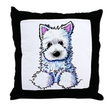 Westie Pocket PUPPY Throw Pillow