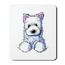 Westie Pocket PUPPY Mousepad