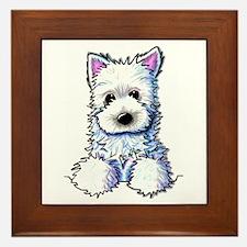 Westie Pocket PUPPY Framed Tile
