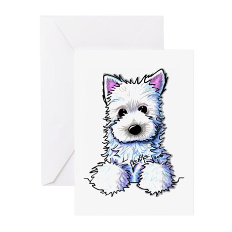 Westie Pocket PUPPY Greeting Cards (Pk of 10)