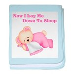 Now I Lay Me Down to Sleep(Pink Bear) baby blanket