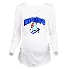 Breckenridge Snowman.png Long Sleeve Maternity T-S