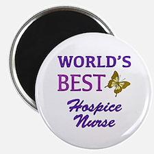 "World's Best Hospice Nurse (Butterfly) 2.25"" Magne"