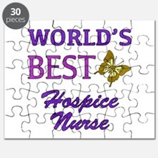 World's Best Hospice Nurse (Butterfly) Puzzle