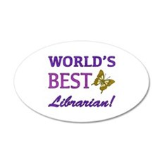 World's Best Librarian (Butterfly) Wall Decal
