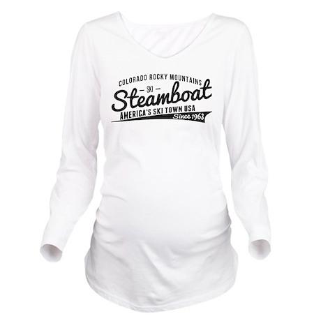 Steamboat Vintage Black Long Sleeve Maternity T-Sh