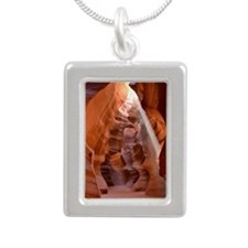 Antelope Canyon Silver Portrait Necklace
