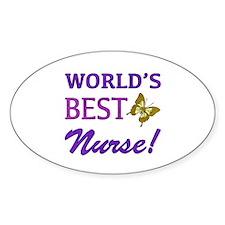 World's Best Nurse (Butterfly) Decal