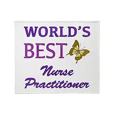 World's Best Nurse Practitioner (Butterfly) Throw