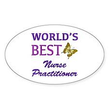 World's Best Nurse Practitioner (Butterfly) Sticke