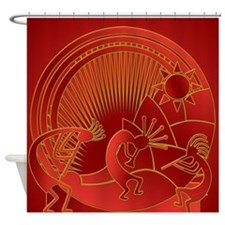 Red Pepper Jam Shower Curtain