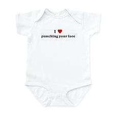I Love punching your face Infant Bodysuit