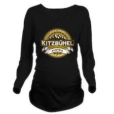 Kitzbuhel Tan.png Long Sleeve Maternity T-Shirt