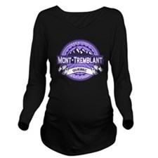 Mont Tremblant Violet.png Long Sleeve Maternity T-