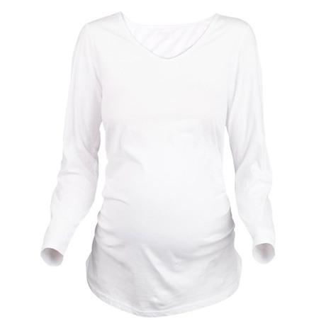Zermatt Old Circle White Long Sleeve Maternity T-S