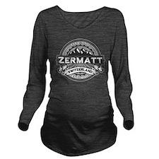 Zermatt Logo Grey.png Long Sleeve Maternity T-Shir