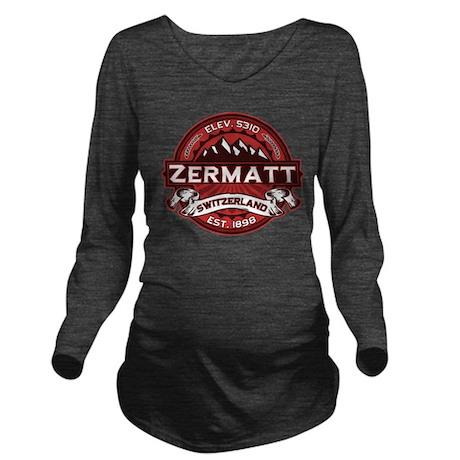 Zermatt Logo Red.png Long Sleeve Maternity T-Shirt