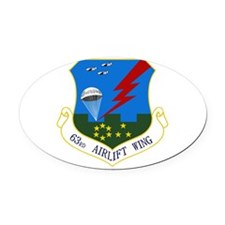 63rd AW Oval Car Magnet