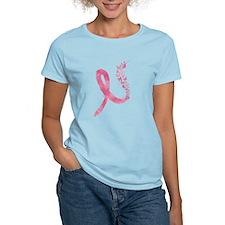 Pink Ribbon Butterflies T-Shirt