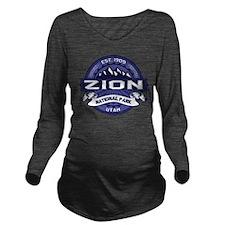 Zion Logo Midnight Long Sleeve Maternity T-Shirt
