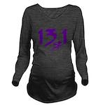 Purple 13.1 half-marathon Long Sleeve Maternity T-