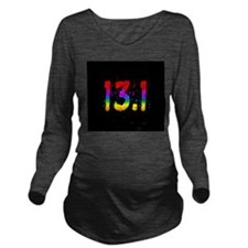 Rainbow Confetti 13.1 Long Sleeve Maternity T-Shir