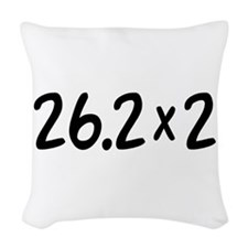 26.2 x 2 Marathon Woven Throw Pillow
