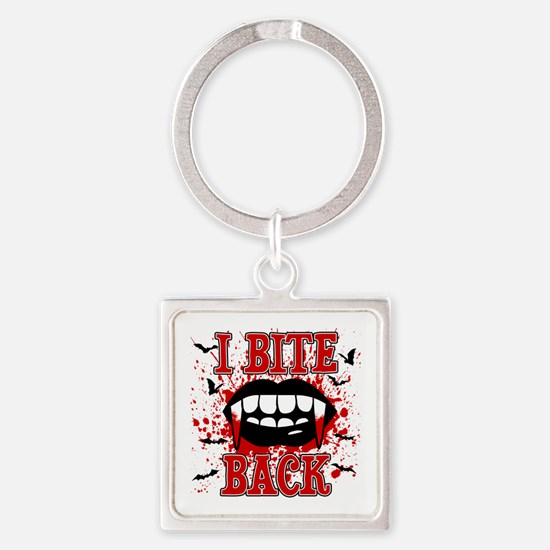 I Bite Back Square Keychain