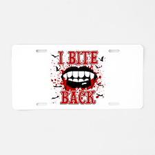I Bite Back Aluminum License Plate