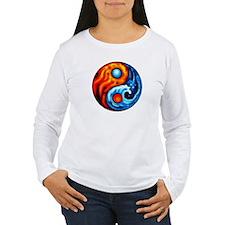 FIRE - WATER YIN - YANG T-Shirt