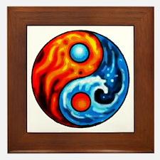 FIRE - WATER YIN - YANG Framed Tile