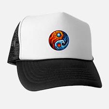 FIRE - WATER YIN - YANG Trucker Hat