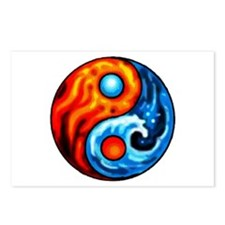 FIRE - WATER YIN - YANG Postcards (Package of 8)