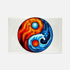 FIRE - WATER YIN - YANG Rectangle Magnet