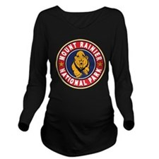 Mt Rainier Red Circle.png Long Sleeve Maternity T-