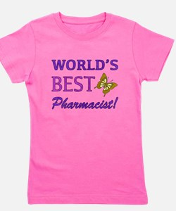 World's Best Pharmacist (Butterfly) Girl's Tee