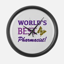 World's Best Pharmacist (Butterfly) Large Wall Clo