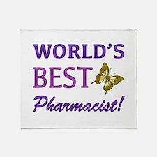 World's Best Pharmacist (Butterfly) Throw Blanket
