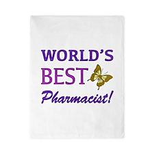 World's Best Pharmacist (Butterfly) Twin Duvet