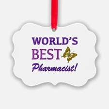World's Best Pharmacist (Butterfly) Ornament