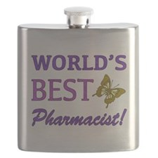World's Best Pharmacist (Butterfly) Flask
