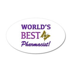 World's Best Pharmacist (Butterfly) Wall Decal