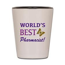 World's Best Pharmacist (Butterfly) Shot Glass