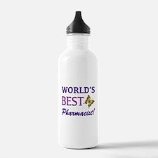 World's Best Pharmacist (Butterfly) Water Bottle