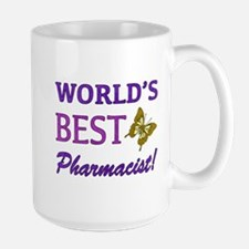 World's Best Pharmacist (Butterfly) Large Mug