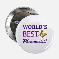 "World's Best Pharmacist (Butterfly) 2.25"" Button"